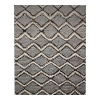 """Aara Rugs Inc. Hand Knotted Navajo Style Rug - 7'8"""" X 9'9"""" For Sale"""