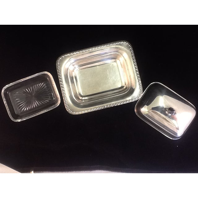 Vintage Silver Plated Footed Butter Dish - Image 4 of 5