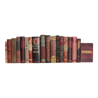 Vintage Black Cherry Books - Set of 18 For Sale