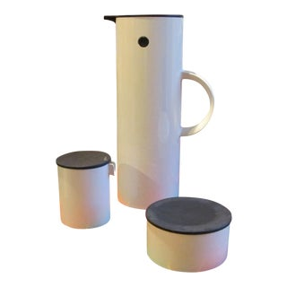Vintage Coffee Service Designed by Eric Magnussen, Made by Stelton - 3 Piece Set For Sale