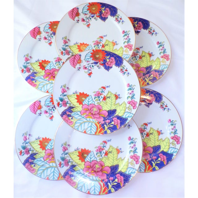 Chinoiserie Vintage Tobacco Leaf Porcelain Plates - Set of Seven or Eight For Sale - Image 3 of 10