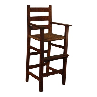 Gustav Stickley Antique Mission Oak High Chair For Sale