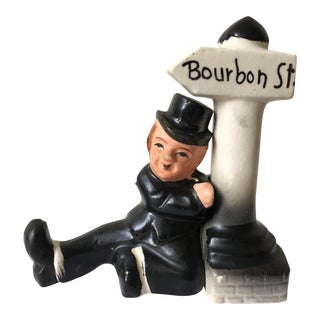 Vintage Bourbon Street Salt & Pepper Shakers - A Pair
