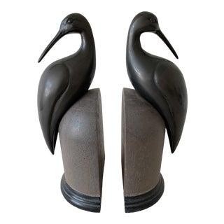 Vintage Beach House Bird Bookends, a Pair For Sale