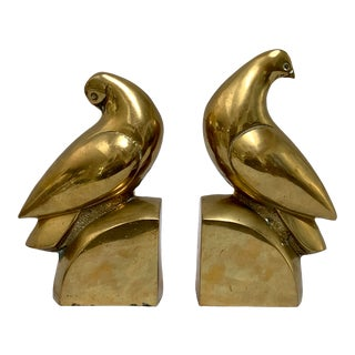 Brass Dove Bookends – a Pair For Sale