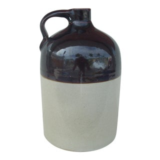 Vintage 2-Tone Whiskey Jug For Sale