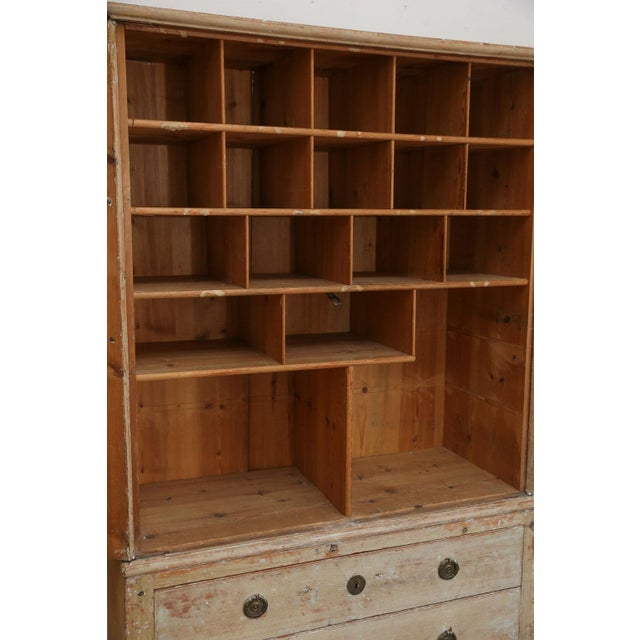 Swedish Pine Tall Cabinet For Sale - Image 9 of 11