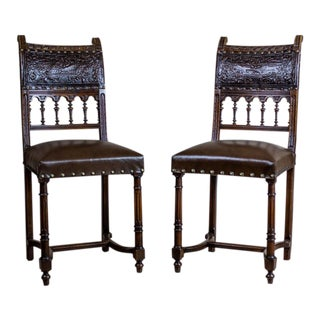 19th-Century Eclectic Chairs - a Pair For Sale