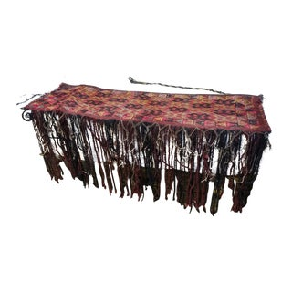 Antique Rajasthani Woven Hanging Tapestry With Fringe For Sale