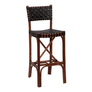 Malibu Bar Chair, Chocolate, Rattan For Sale