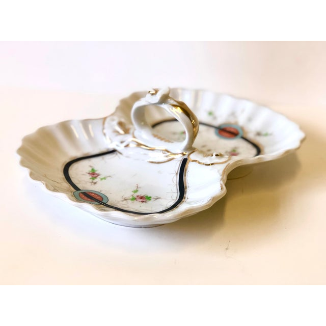 Ceramic Art Deco Kpm Porcelain Double Bowl Serving Dish With Handle For Sale - Image 7 of 12