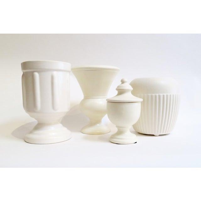 White Ceramic Vessels- Set of 4 - Image 2 of 5