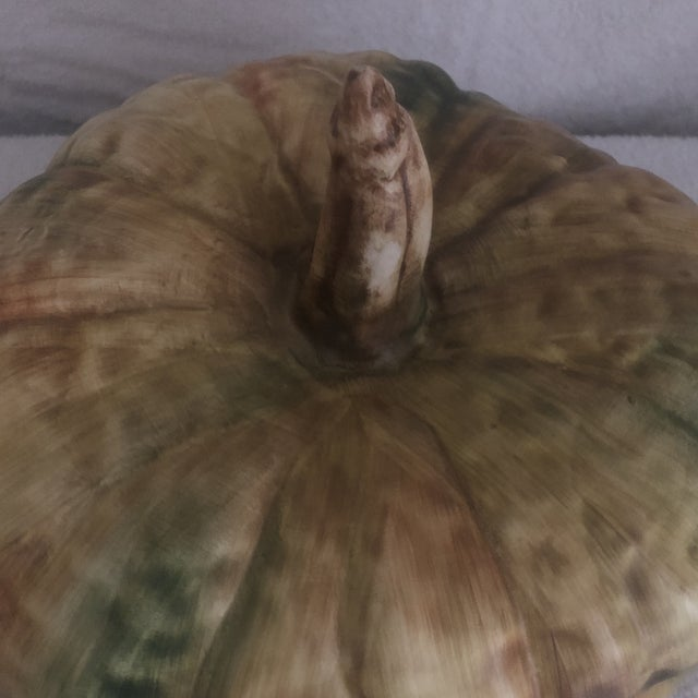 Mid 20th Century Bresolin Pumpkin Tureen With Ladle For Sale - Image 5 of 9