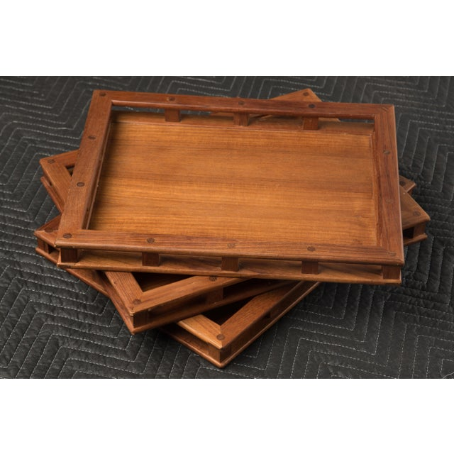 Mid-Century Modern Jens Quistgaard Dansk Teak Tray Gallery Sides - a Set of Three For Sale - Image 10 of 10