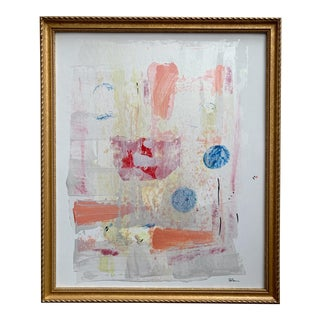 """""""Mischievous Friday"""" Contemporary Abstract Acrylic Painting by Gladys Tay For Sale"""