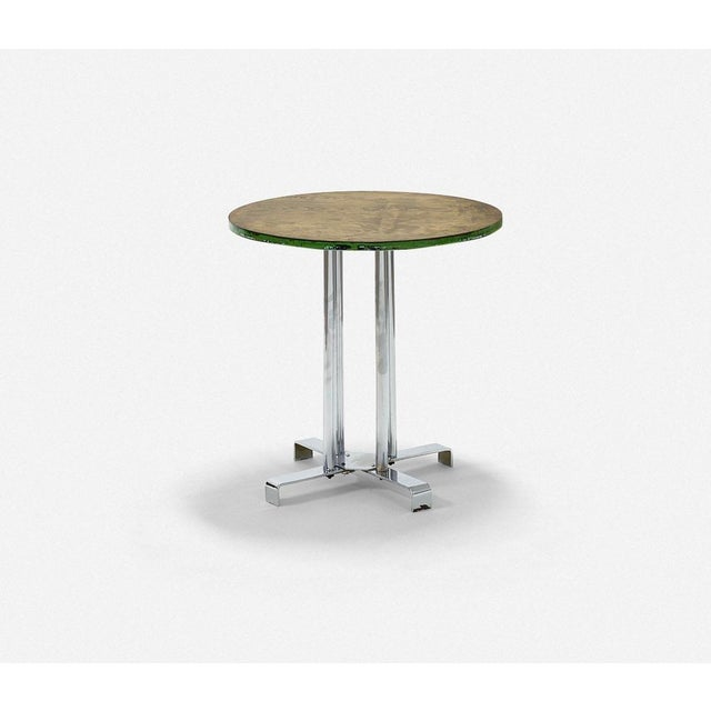 Mid-Century Modern Vintage Wood and Tubular Steel Side Table Designed by Alfons Bach for Lloyd Loom Products For Sale - Image 3 of 6