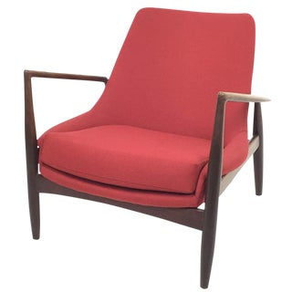1950s Vintage Ib Kofod Larsen for Ope Mobler Seal Chair For Sale