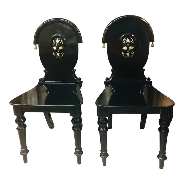 James Shoolbred Furniture London Chairs - a Pair For Sale