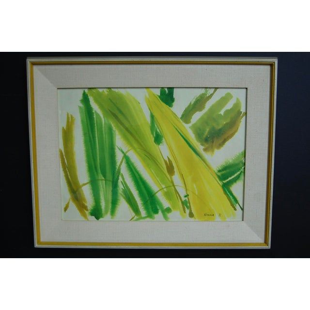 Tropical Leaves Framed Water Color by Norma Green For Sale In Chicago - Image 6 of 9
