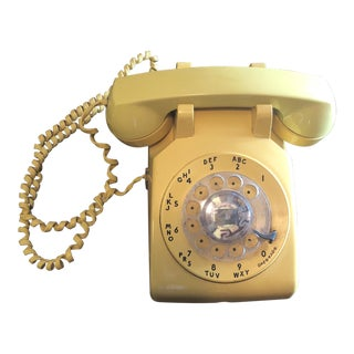 Mid-Century Yellow Dial Telephone For Sale