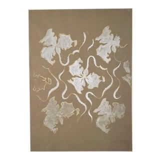 1930s French Original Gouache Design for Silk Fabrics For Sale