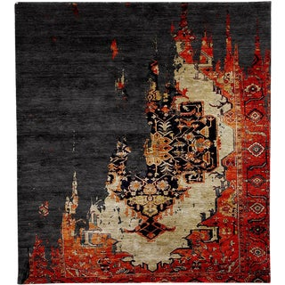 Contemporary Homage Rug - 6′ × 9′ For Sale