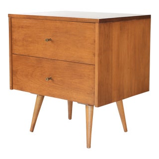 1960s Mid-Century Modern Paul McCobb Planner Group Two Drawer Nightstand For Sale