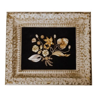Framed Vintage Jewelry Christmas Art For Sale