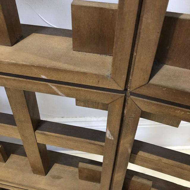 1960s 1960s Mid Century Modern Solid Wood Room Divider / Screen For Sale - Image 5 of 13