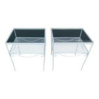 Woodard Patio Tables- a Pair For Sale