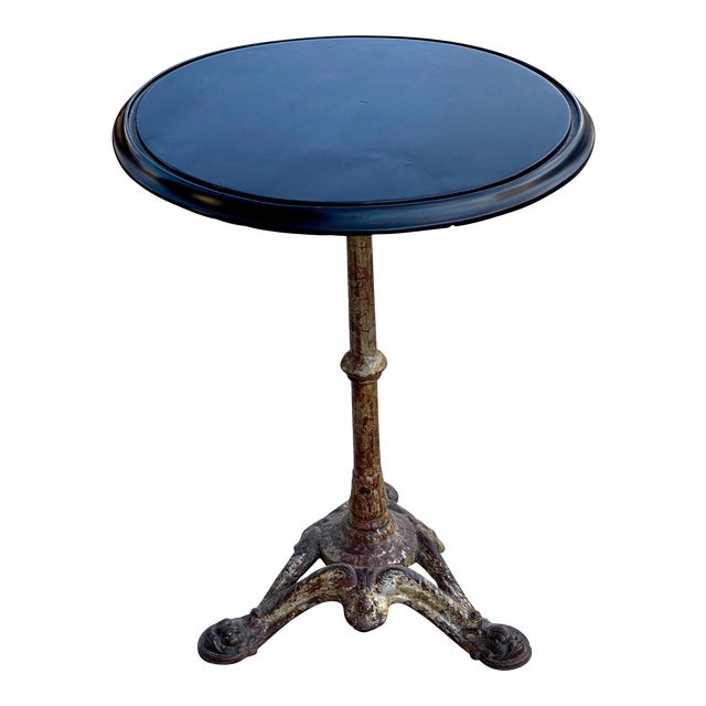 Cast Iron and Ebonized Wood Pub Table For Sale