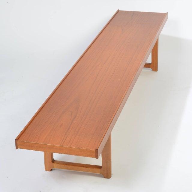 1960s Long Teak Bench 'Krobo' by Torbjörn Afdal for Bruksbo For Sale - Image 5 of 9