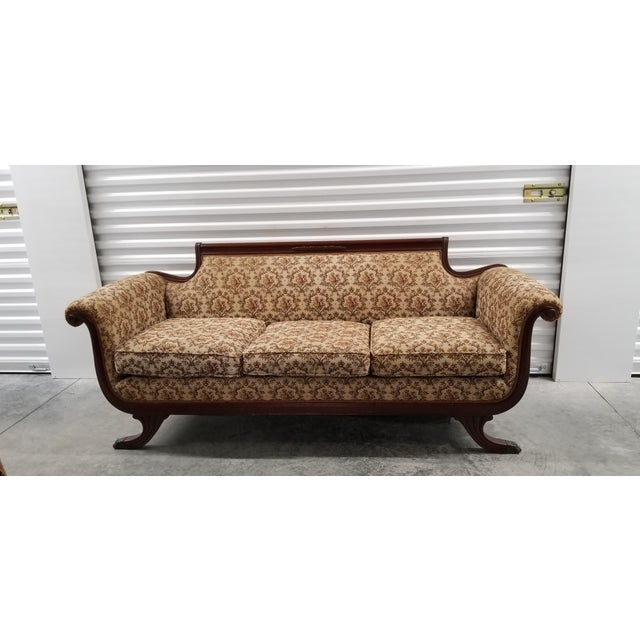Brown Early 20th Century Vintage Suggs & Hardin Hickory NC Sofa For Sale - Image 8 of 12