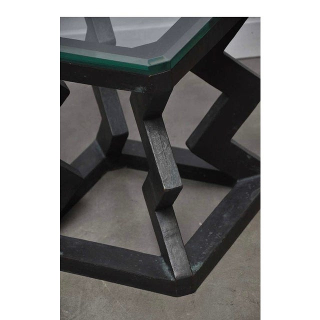 Mid-Century Modern Gene Summers Bronze F15 Table For Sale - Image 3 of 10