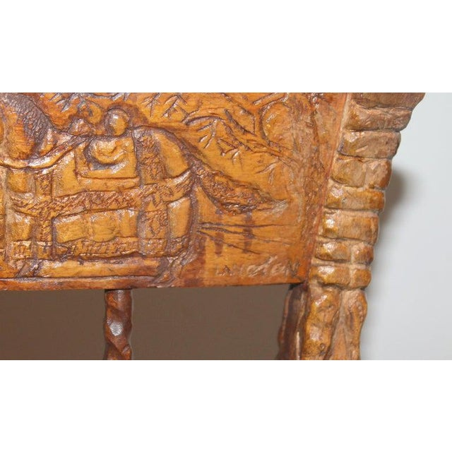 19th Century Handmade English Chess Carved Chair For Sale - Image 9 of 10