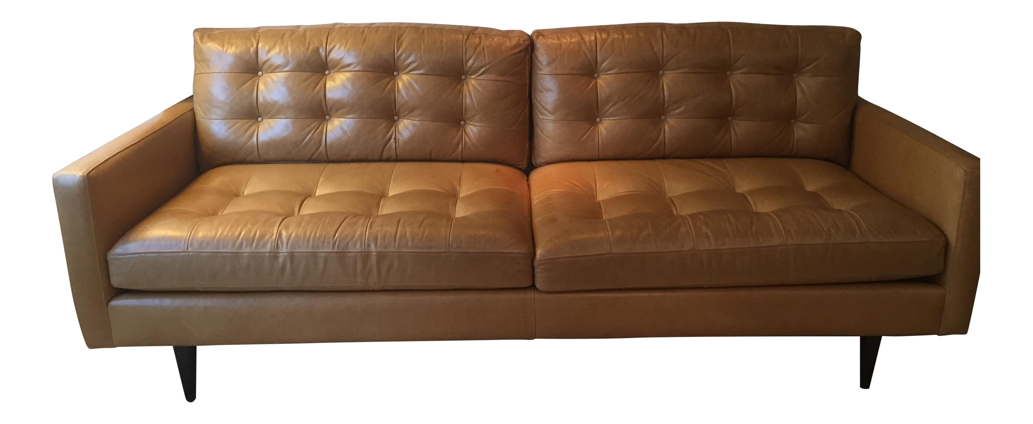 Crate barrel petrie leather sofa chairish