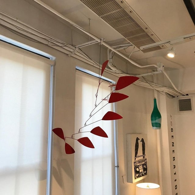 Abstract Large Jim Hunter Red Hanging Mobile For Sale - Image 3 of 4