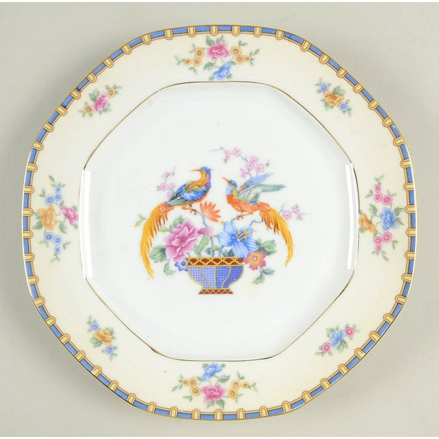 Boho Chic Vintage Mixed Bird Dinner Plates - Set of 8 For Sale - Image 3 of 10
