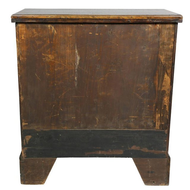 George II Style Burl Walnut Bachelors Chest For Sale - Image 10 of 11