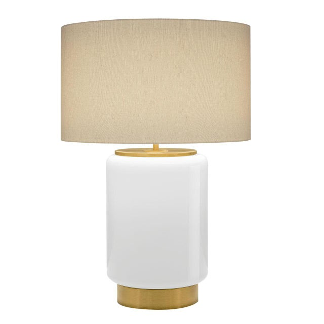 Art Deco Milk Coloured Lamp With Shade For Sale - Image 3 of 3