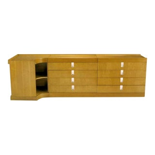 Brian Palmer for Baker Birdseye Maple Modular Cabinet For Sale