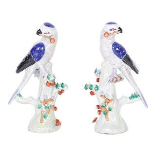 Chinese Porcelain Birds - A Pair For Sale