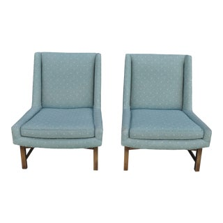 Mid Century Slipper Chairs- a Pair For Sale