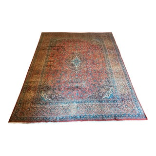 Early 20th Century Antique Persian Wool Rug - 9′5″ × 12′8″ For Sale