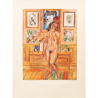 """1940s Raoul Dufy, Original Swiss """"Nude"""" Period Lithograph For Sale"""
