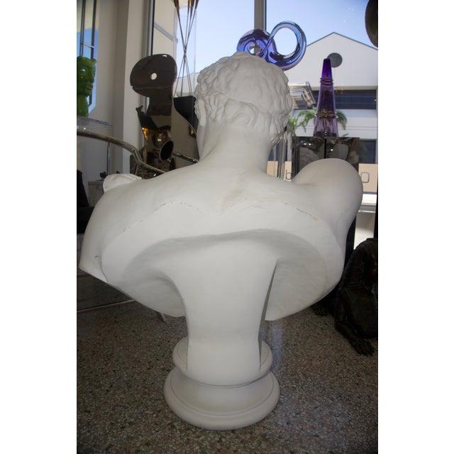 "White Neoclassical Revival ""Hermes"" Plaster Bust For Sale - Image 8 of 13"