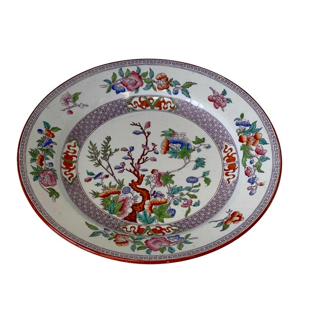 Minton Antique Minton Ironstone India Tree Plate For Sale - Image 4 of 9
