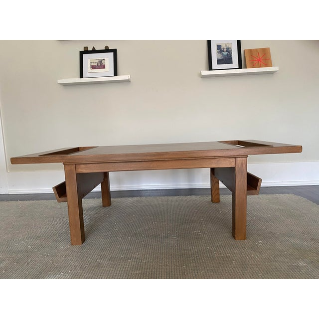 Chestnut Lane Coffee Table with Magazine Holders For Sale - Image 8 of 8