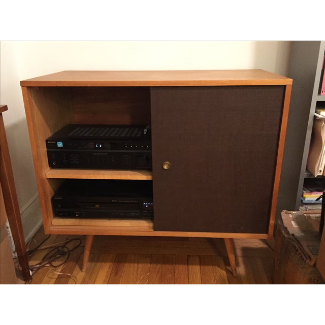Paul McCobb Planner Group Grass Cloth Cabinet - Image 3 of 5
