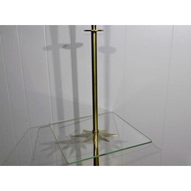 1960s Mid-Century Modern Stiffel Starburst Brass Torchiere Floor Lamp For Sale - Image 9 of 13
